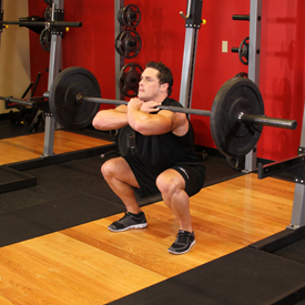 front barbell squats for quadricep muscles
