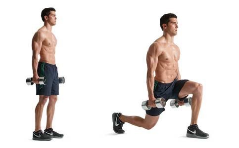 lunges for quadricep muscles